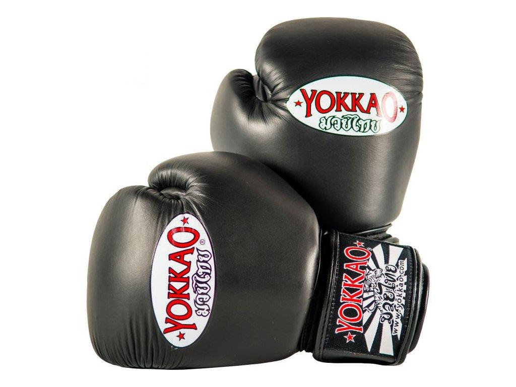 Boxerské rukavice YOKKAO Matrix - černá