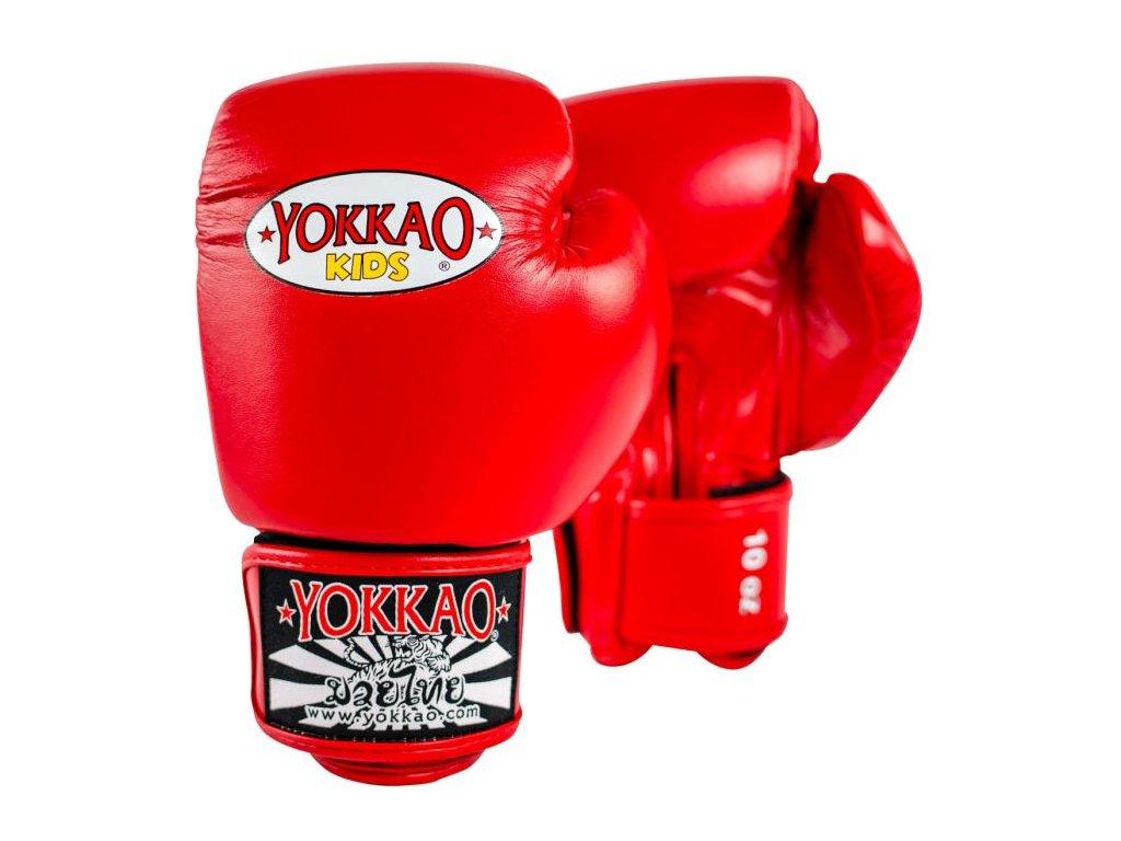 Dětské boxerské rukavice YOKKAO Matrix - červená