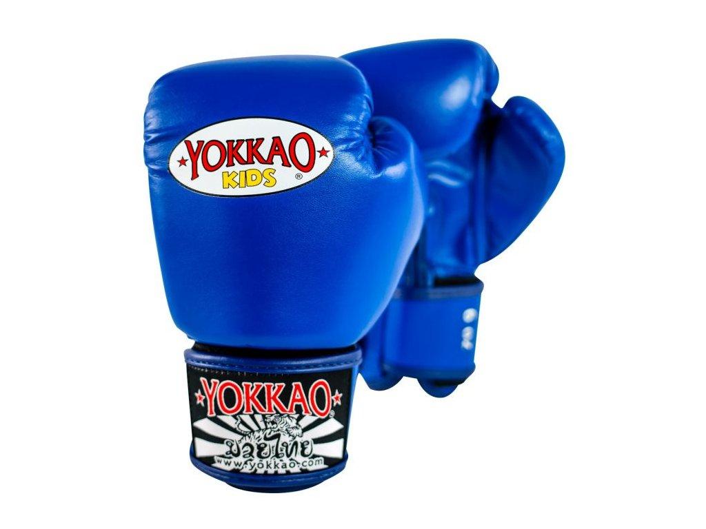 Dětské boxerské rukavice YOKKAO Matrix - modrá