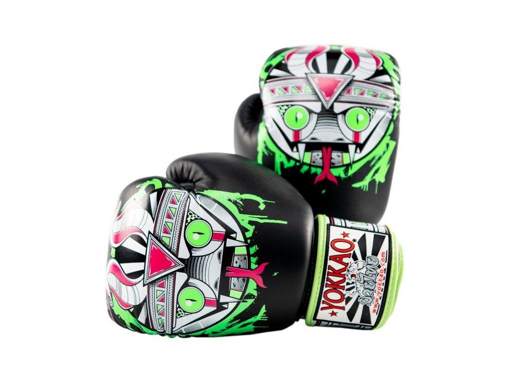 Muay Thai rukavice YOKKAO APEX - motiv had