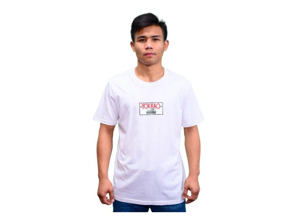 Sportovní triko YOKKAO Refresh Print Logo-bílé