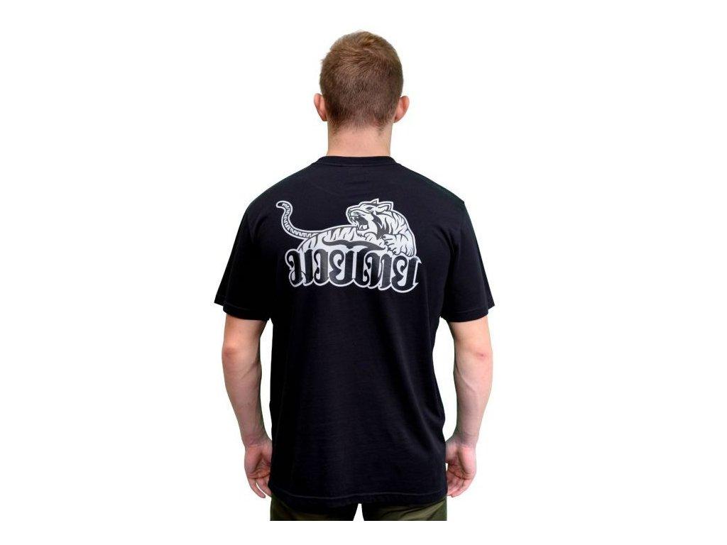 Sportovní triko YOKKAO Tiger Print -černé
