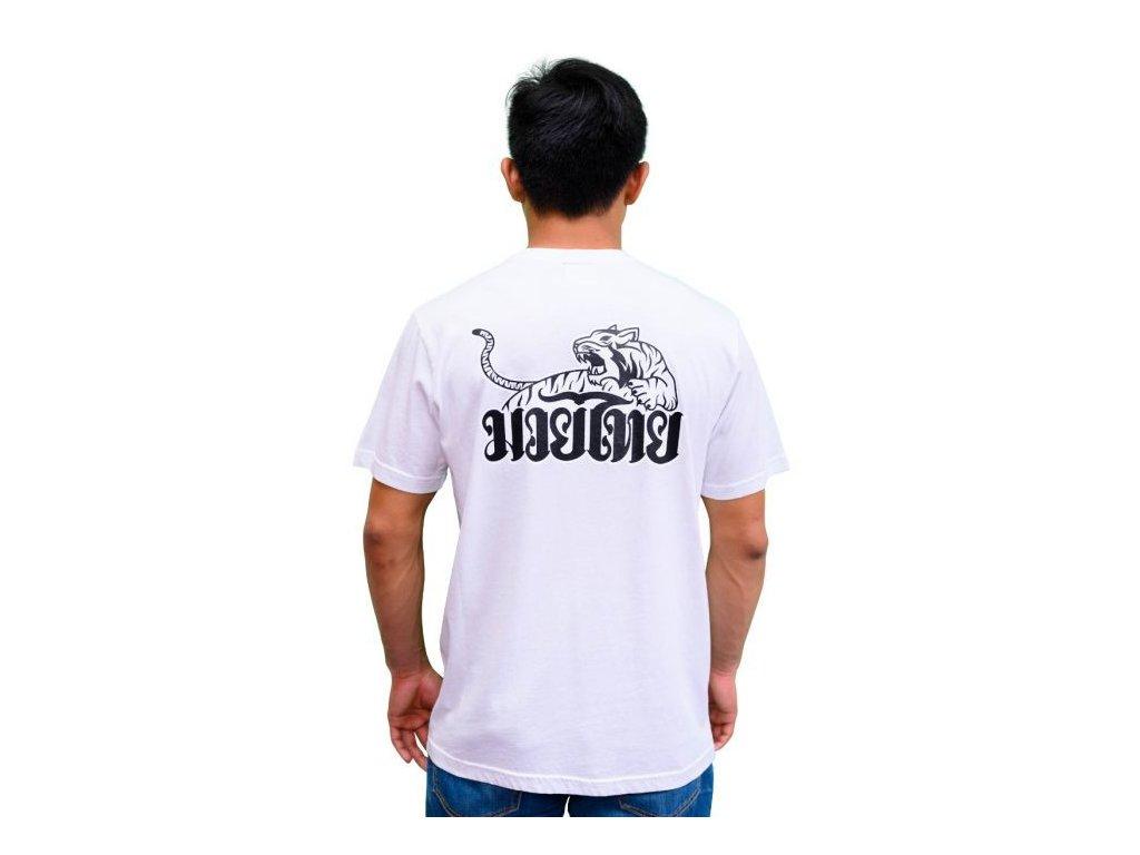 Sportovní triko YOKKAO Tiger Print -bílé