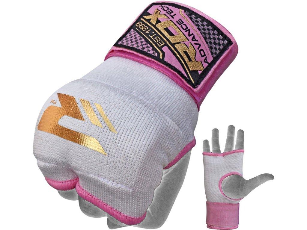 Vnitřní gelové rukavice RDX s bandáží zápěstí 75cm-růžový
