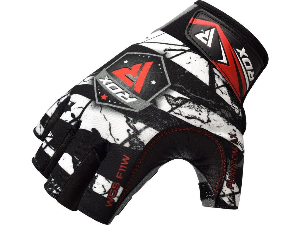 Tréninkové fitness rukavice RDX F11-Maskovací bílá