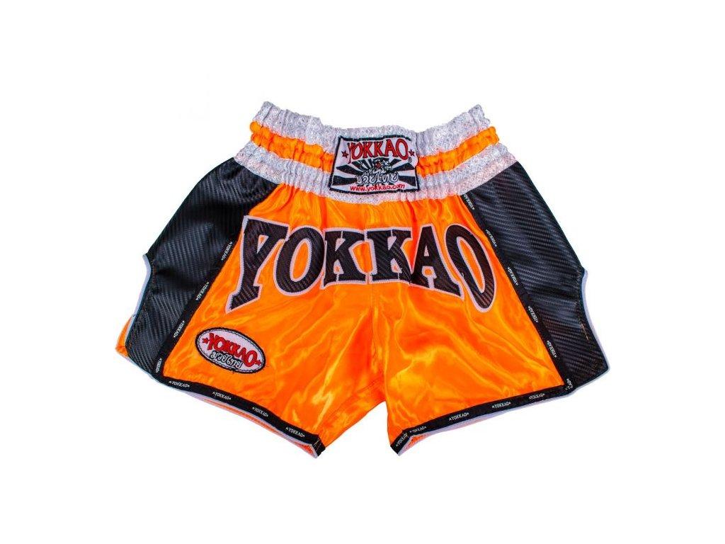 Trenky YOKKAO Muay Thai Carbon - oranžová
