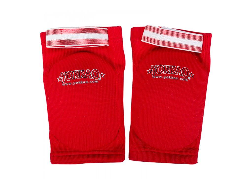 Bavlněné chrániče loktů YOKKAO Muay Thai - červená