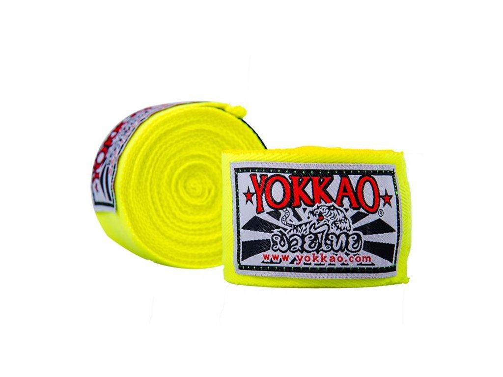 Bandáže rukou YOKKAO Muay Thai - neonově žlutá