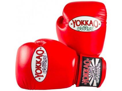 Boxerské rukavice YOKKAO Matrix - červená