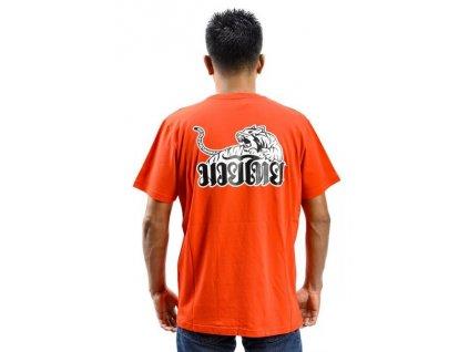 Sportovní triko YOKKAO Tiger Print -červené
