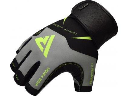 Tréninkové fitness rukavice RDX F21-Maskovací bílá