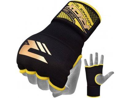 Vnitřní gelové rukavice RDX s bandáží zápěstí 75cm-černá