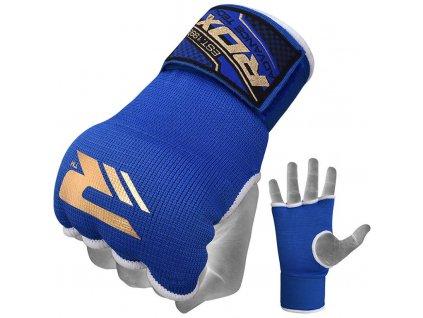 Vnitřní gelové rukavice RDX s bandáží zápěstí 75cm-modrý