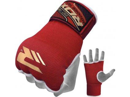 Vnitřní gelové rukavice RDX s bandáží zápěstí 75cm-červené