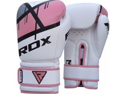Boxerské rukavice RDX F7 Ego Pink pro ženy
