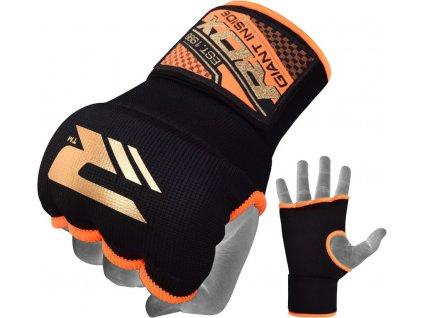 Vnitřní gelové rukavice RDX s bandáží zápěstí 75cm-oranžové