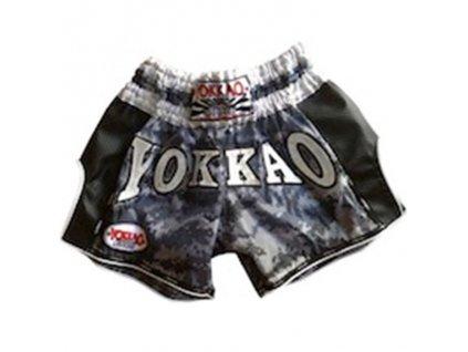 Trenky YOKKAO Muay Thai Carbon - šedý maskáč