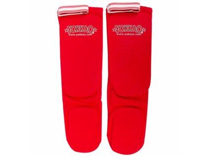 Bavlněné chrániče holení YOKKAO Muay Thai - červená