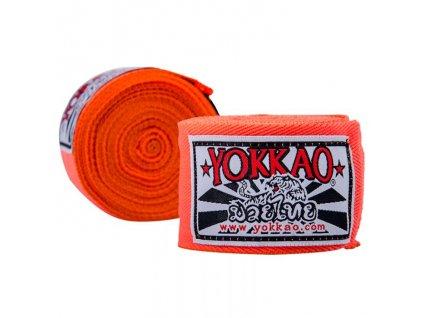 Bandáže rukou YOKKAO Muay Thai - neonově oranžová