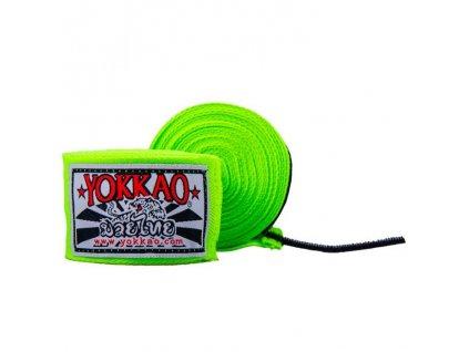 Bandáže rukou YOKKAO Muay Thai - neonově zelená