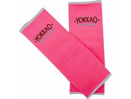 Chrániče kotníků YOKKAO - neonově růžová