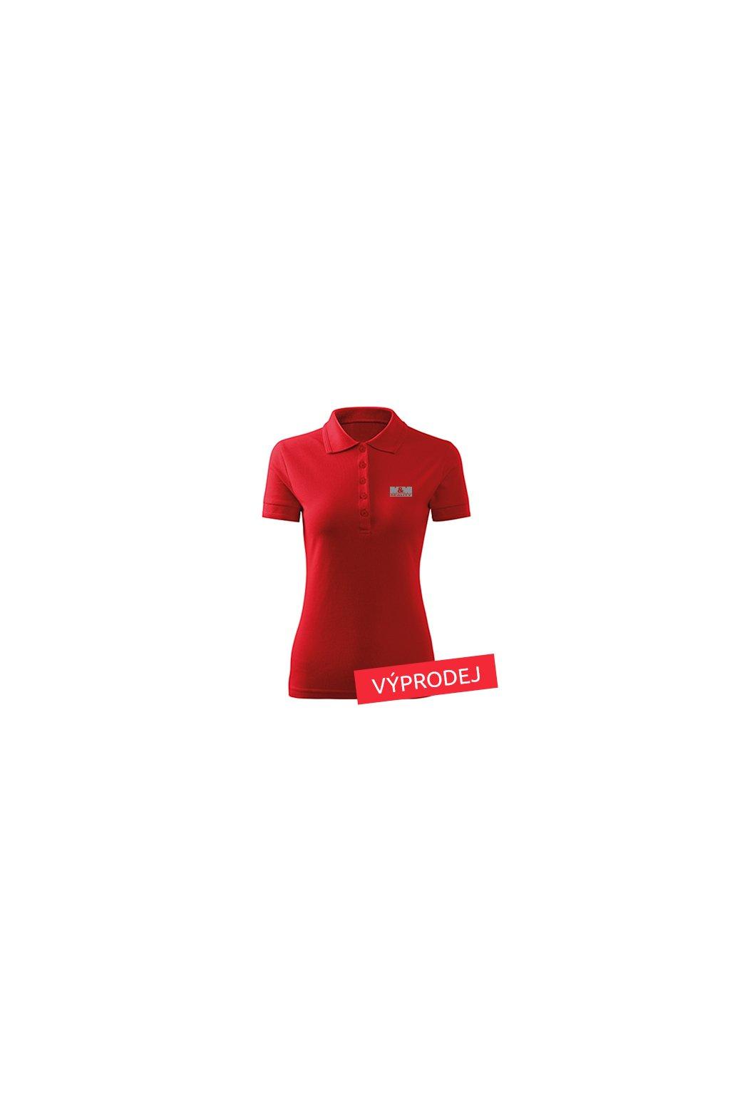 Dámská polokošile červená 210 - VÝPRODEJ