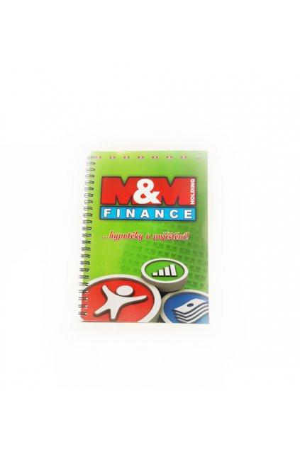 Blok v kroužkové vazbě A5 - M&M Finance
