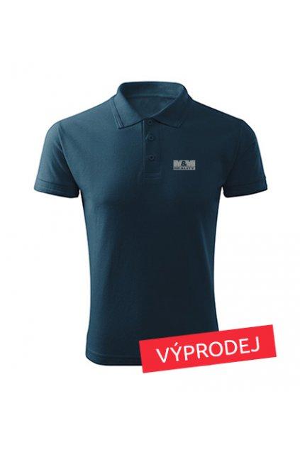 Panská polokošile modrá šedé logo nejdůvěryhodnější značka 203- VÝPRODEJ