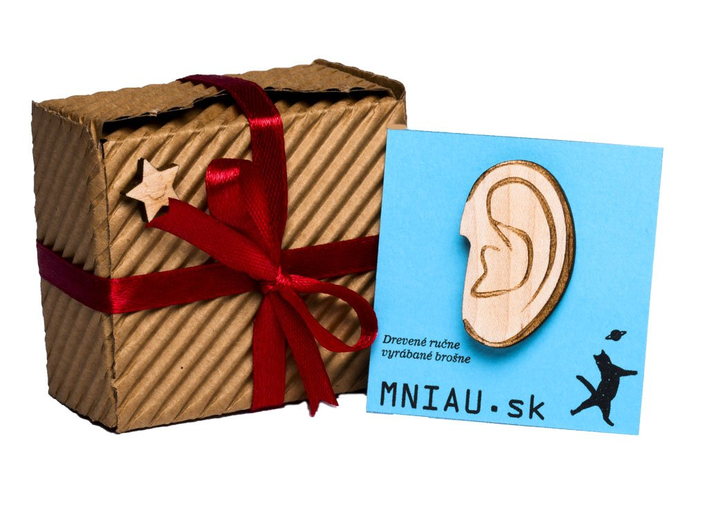 Drevena brosna ucho krabička