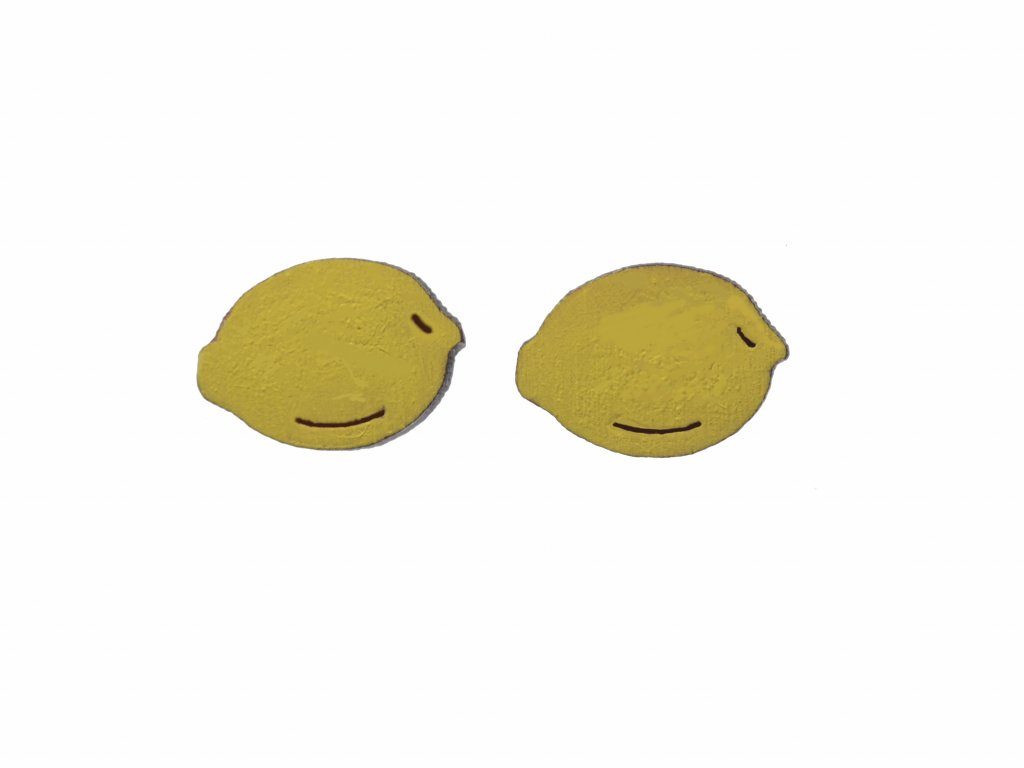Drevene nausnice Citron
