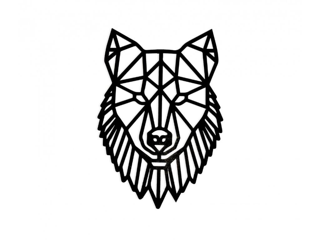 Drevený obraz Vlk