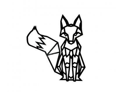 Drevený obraz líška