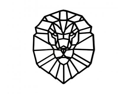 Drevený obraz Lev