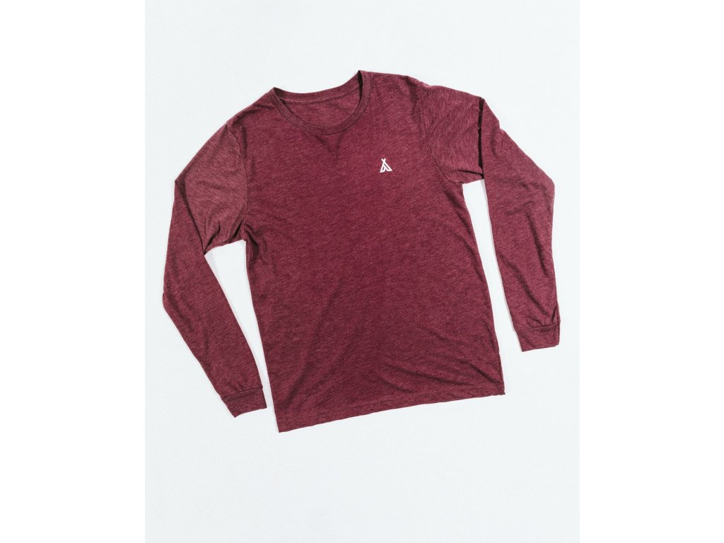10e7a149aec Camp Brand Goods UNISEX Triko s dl. rukávem CAMPERS MAROON - MOAB store