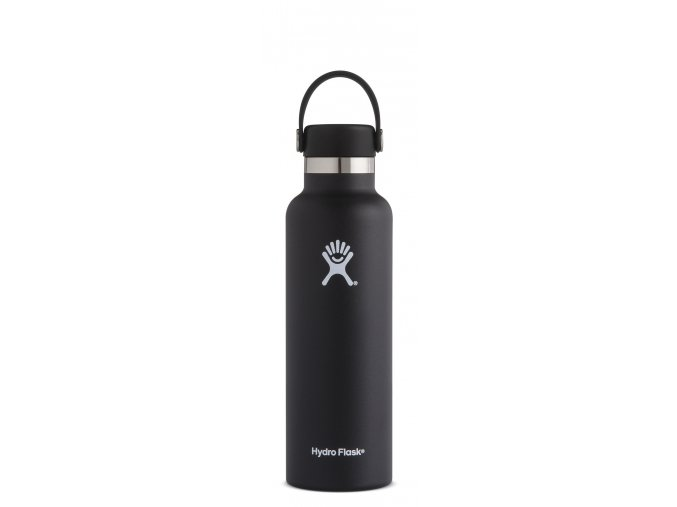 Hydro Flask 21oz Standard Mouth Black termolahev 621 ml