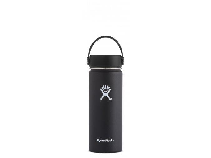 Hydro Flask 18oz Wide Mouth Black Láhev 532 ml