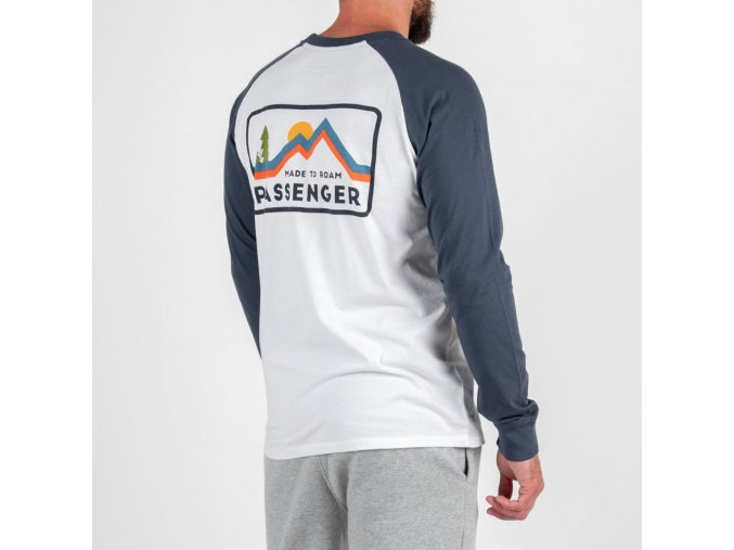 Passenger ROADMAP LONG SLEEVE T SHIRT WHITE DENIM