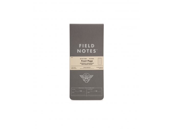 FIELD NOTES FRONT PAGE 2 PACK 1