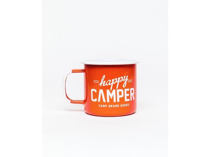HAPPY CAMPER ENAMEL MUG FIRE RED 1
