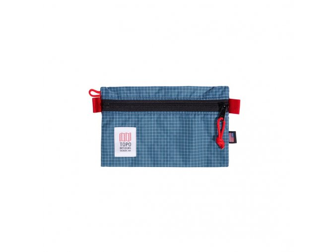 Topo Designs Accessory Bag Small Blue White Ripstop
