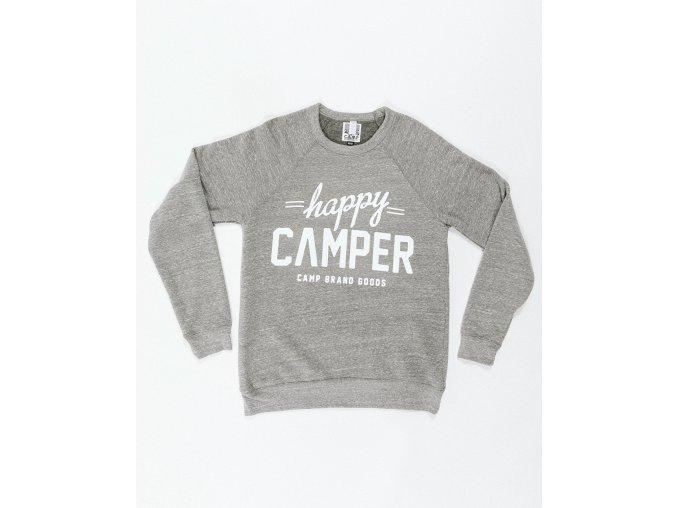 HAPPY CAMPER CREWNECK TRI GREY 6