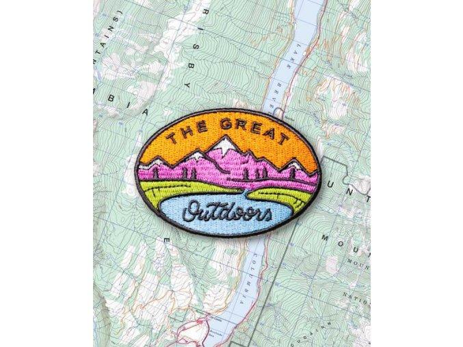Camp Brand Goods nášivka LAKE MOUNTAIN 2