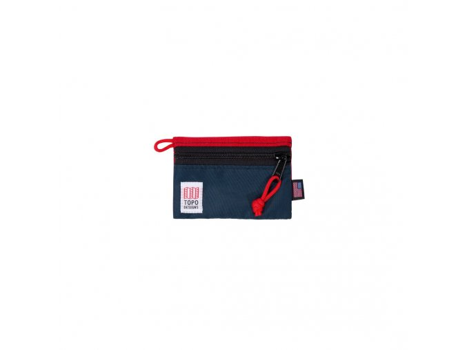 Topo Designs accessory bag micro red navy