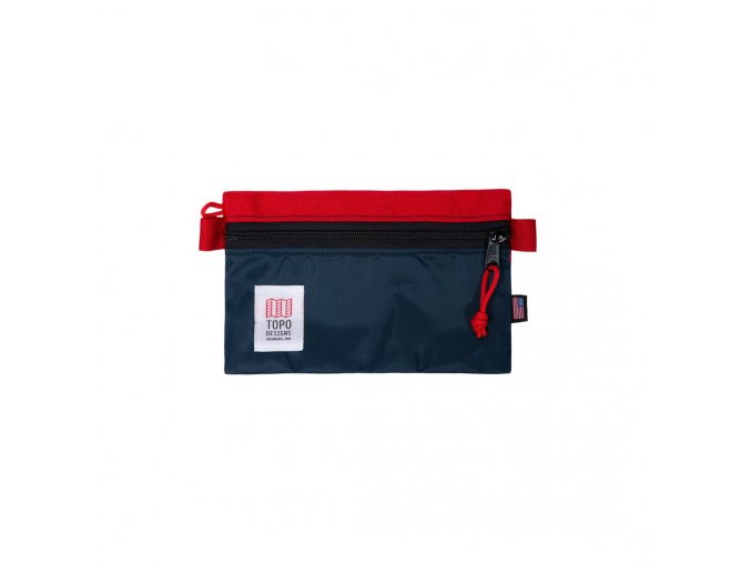 Topo Designs Accessory Bag Small Red Navy