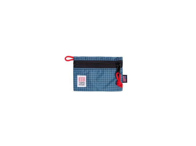 Topo Designs Accessory Bag Micro Blue White Ripstop