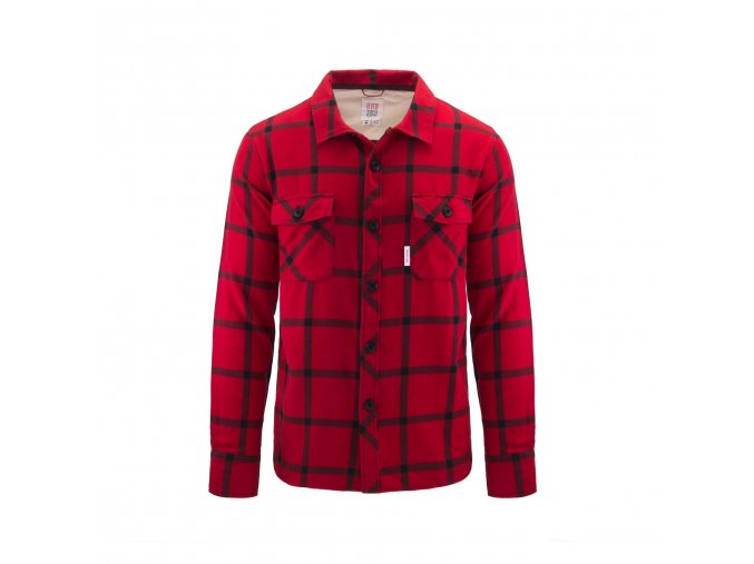 TOPO DESIGNS FIELD SHIRT PLAID RED BLACK