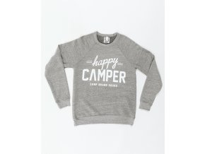 HAPPY CAMPER CREWNECK TRI GREY 6