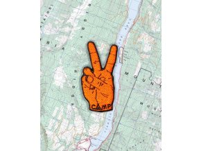 Camp Brand Goods nášivka PEACE SIGN 2