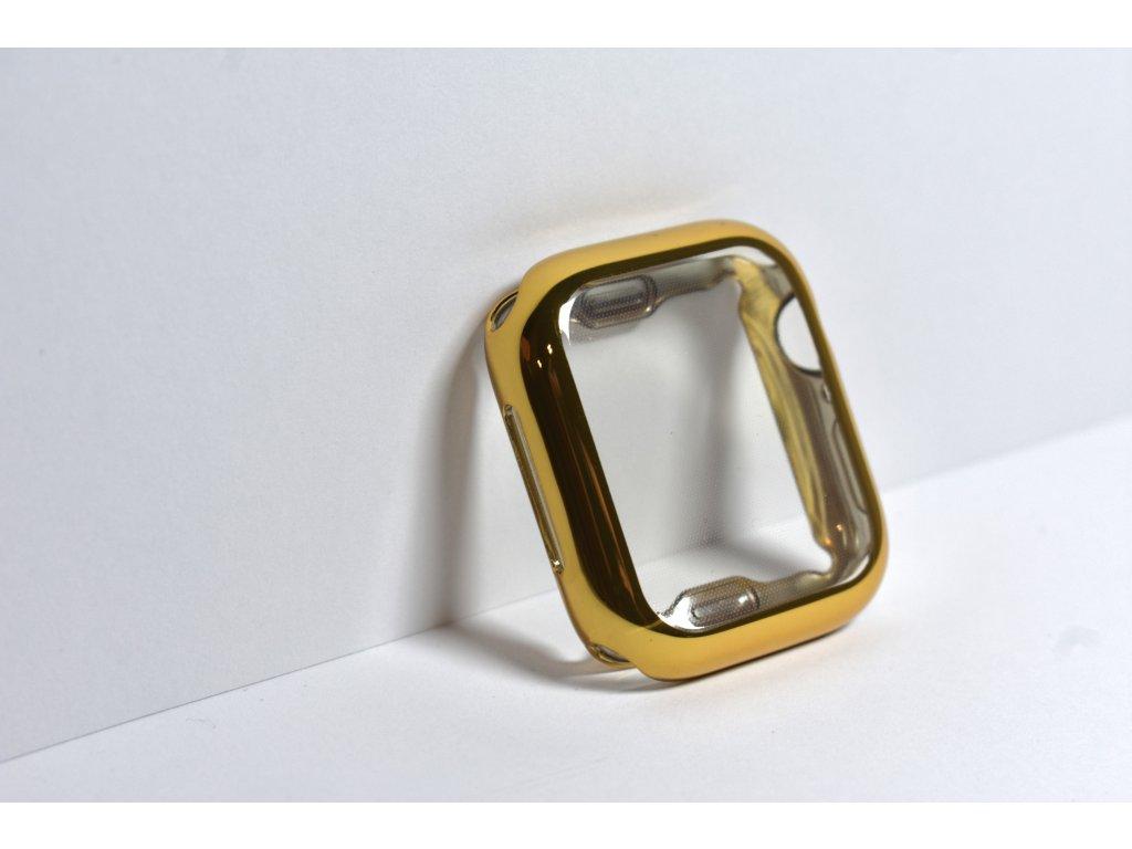 Zlaté lesklé pouzdro pro Apple Watch 40mm a 44mm