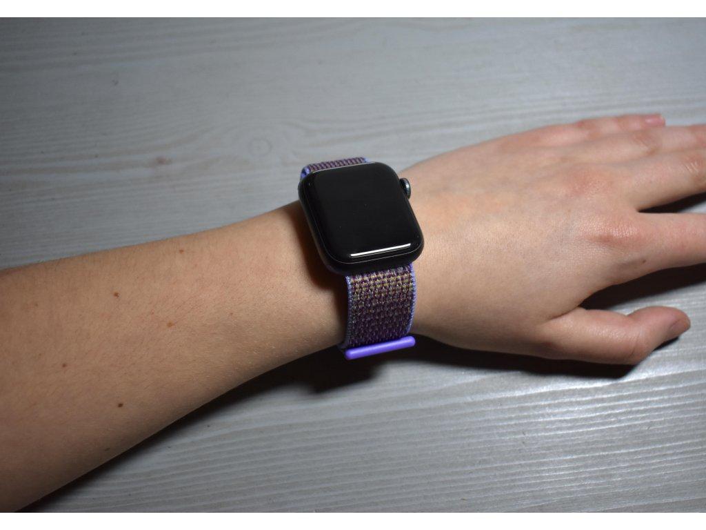 Fialový nylonový řemínek pro všechny generace Apple Watch